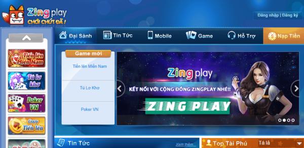 Chơi game zingplay online